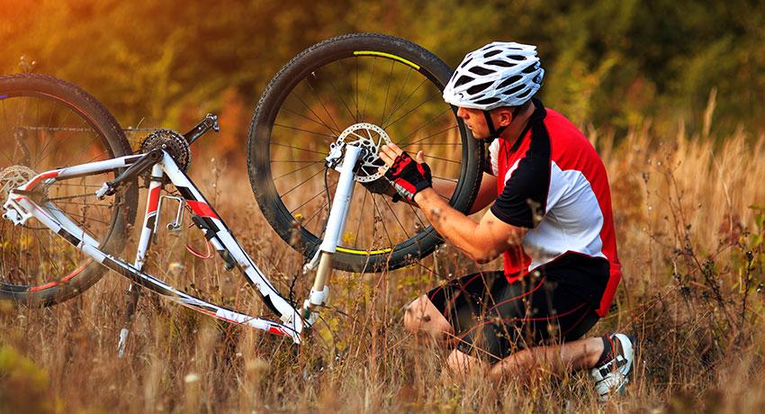 Vårda cykel och cykeltillbehör rätt